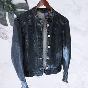B.U.M Women's Stretch Denim Jacket Size Large